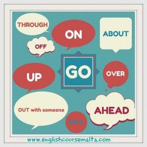 Phrasal Verbs with go, go on, go off, go ahead, go into, go by, go out, go out with someone, go into , go over