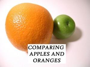 compare apples and oranges IDIOM