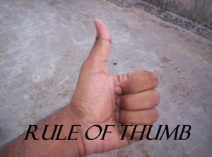 RULE OF THUMB IDIOM