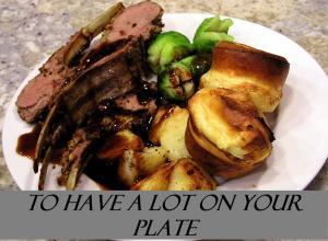 TO HAVE A LOT ON YOUR PLATE IDIOM