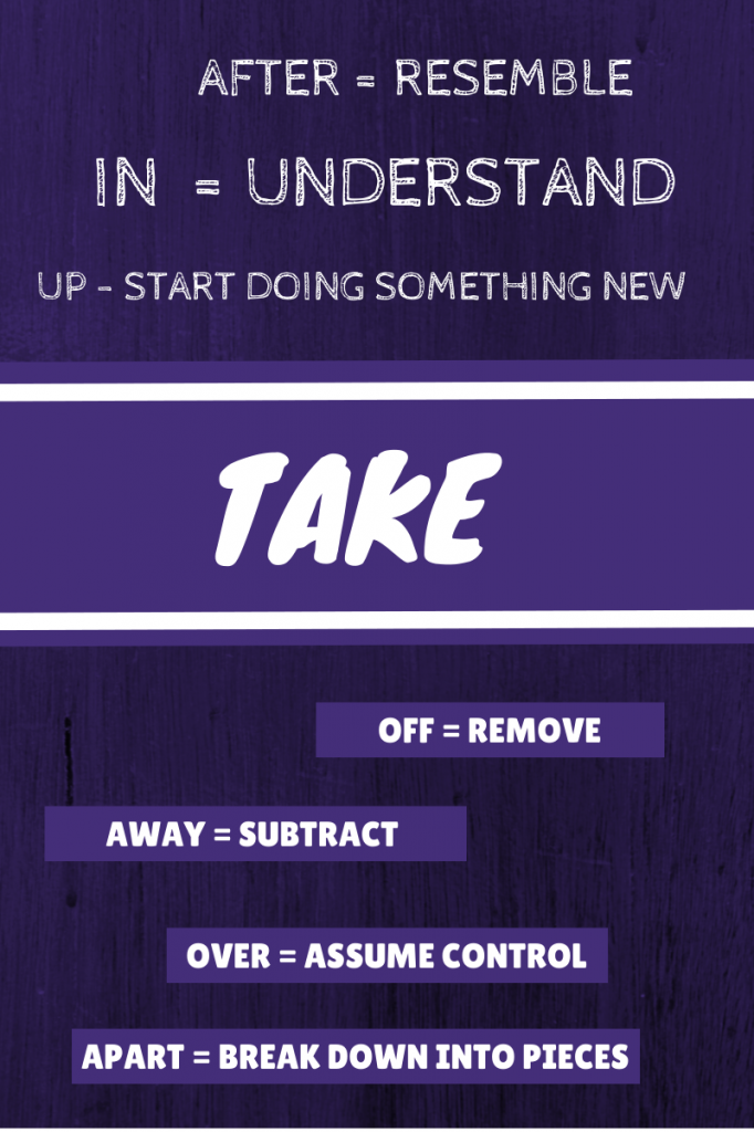 USING TAKE AS A PHRASAL VERB