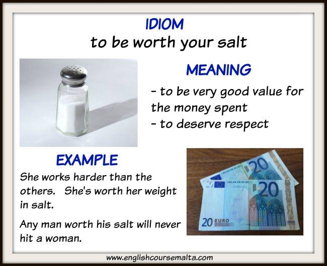 idiom meaning value, idiom meaning respect