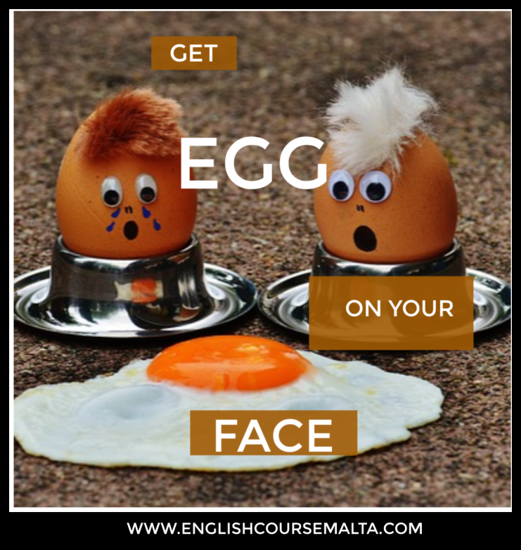 INFOGRAPHIC PICTURE OF EGG WITH WORDS GET EGG ON YOUR FACE