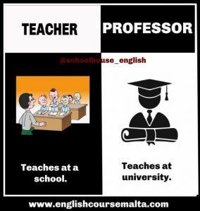 teacher or professor